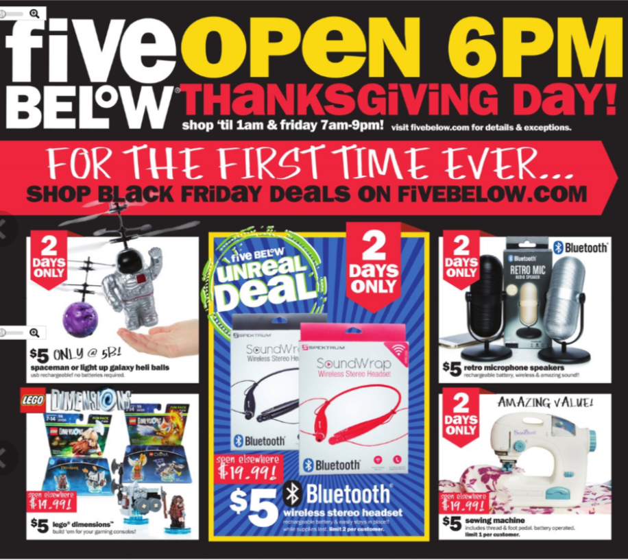 Five Below Black Friday page 1